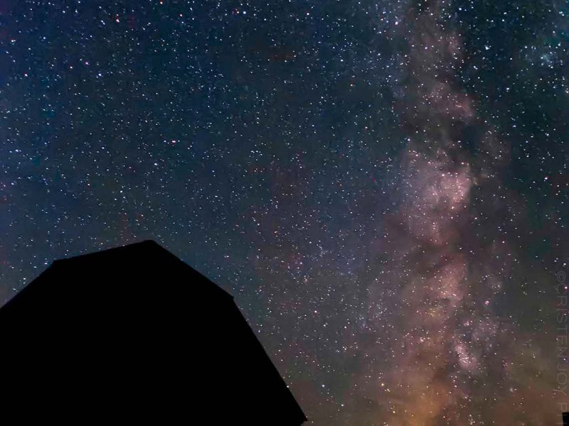 Milky Way Barn 5×7 Matted Print