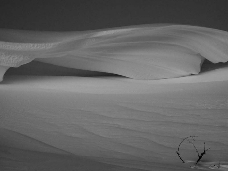 Wind Carved Snow Drift Custom Print