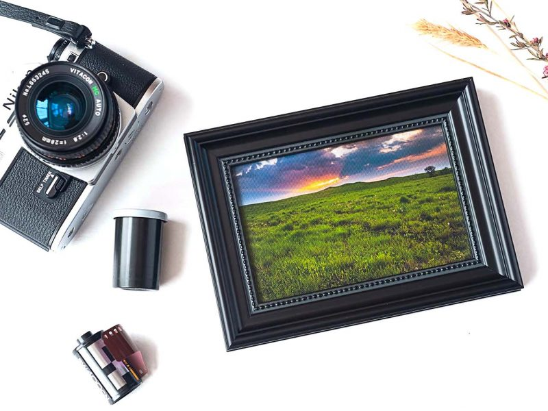 After the Rain Framed Mini Canvas Print