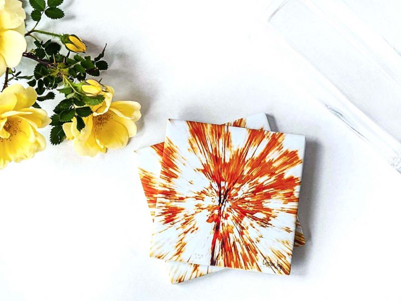 Abstract Leaves Coasters