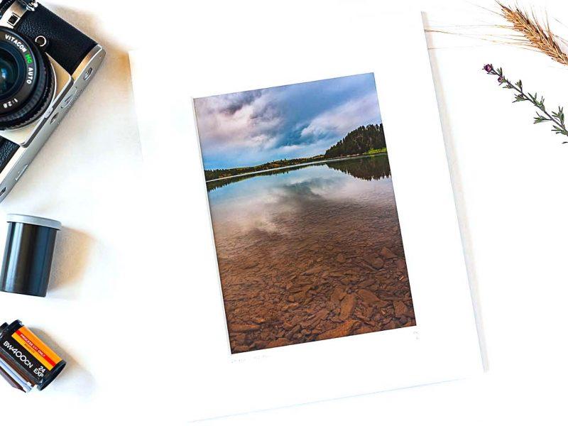 Deerfield Lake 5×7 Matted Print