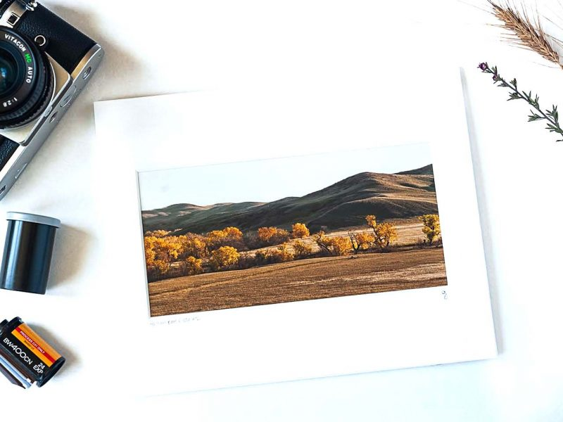 Fall on Bad River 4×8 Matted Print