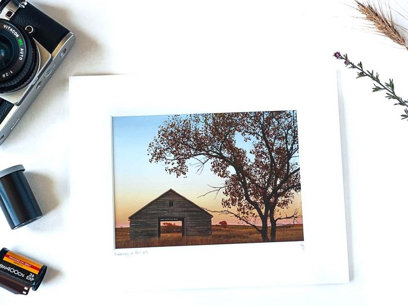 Granary in Fall 5×7 Matted Print