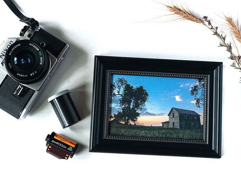 Homestead Framed Mini Canvas Print