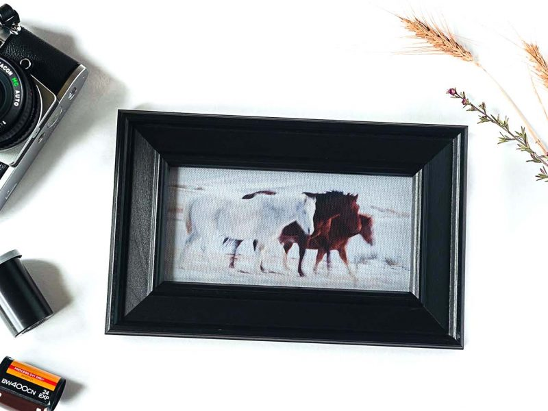 In Motion Framed Mini Canvas Print
