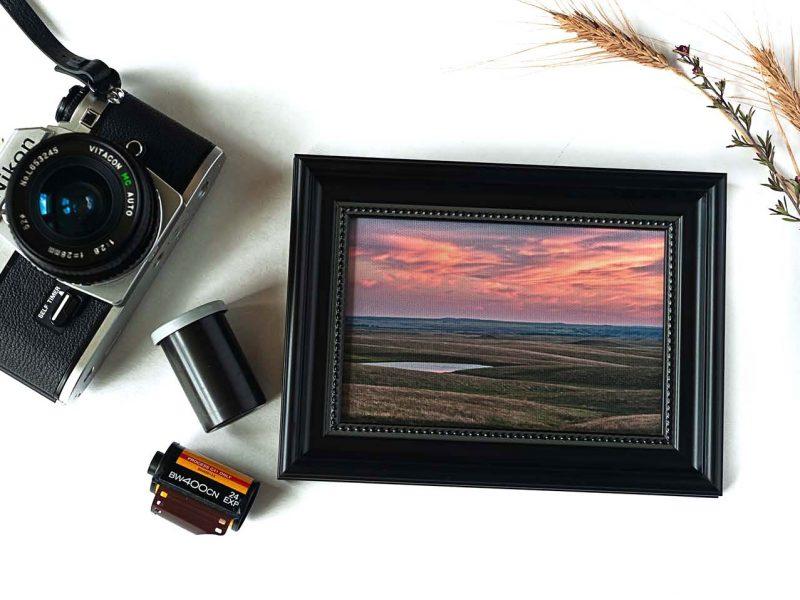 Last Light at Okaton Framed Mini Canvas Print