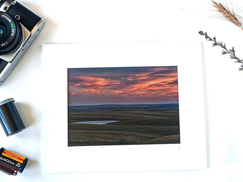 Last Light at Okaton 5×7 Matted Print