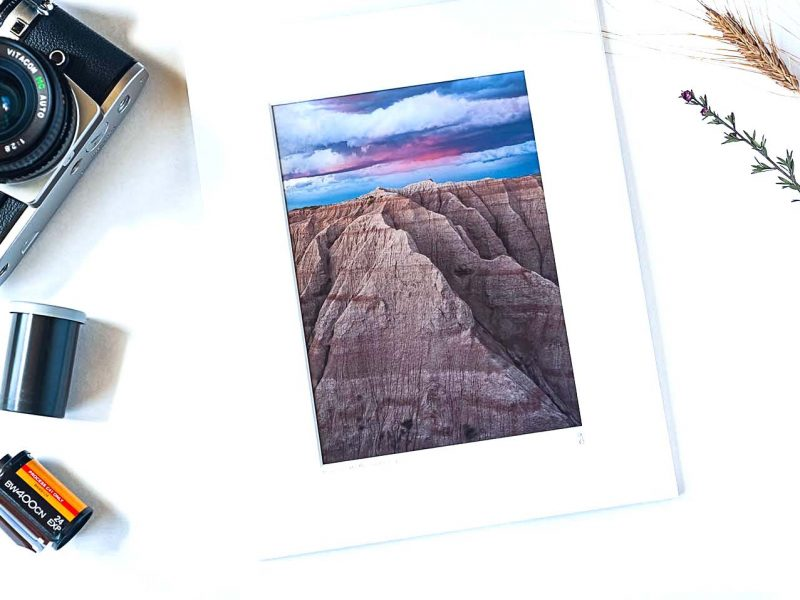 Mountainous Badlands 5×7 Matted Print