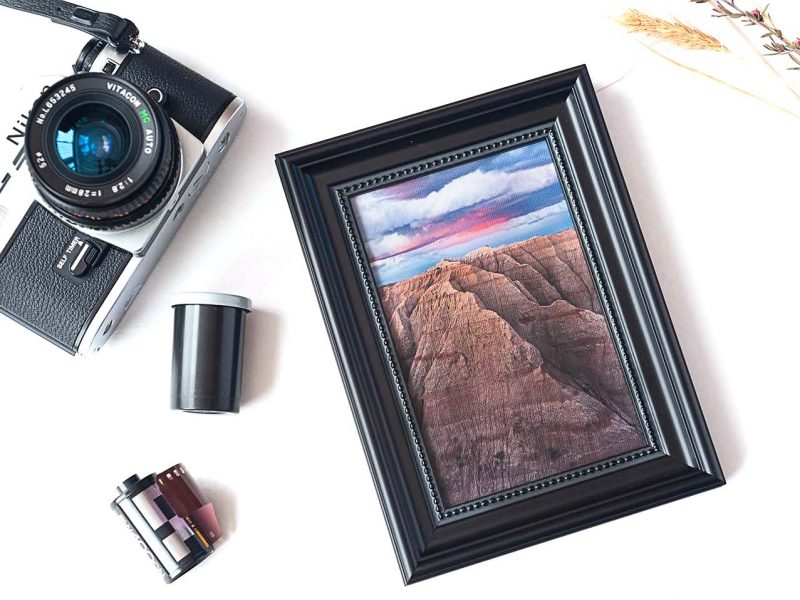 Mountainous Badlands Framed Mini Canvas Print