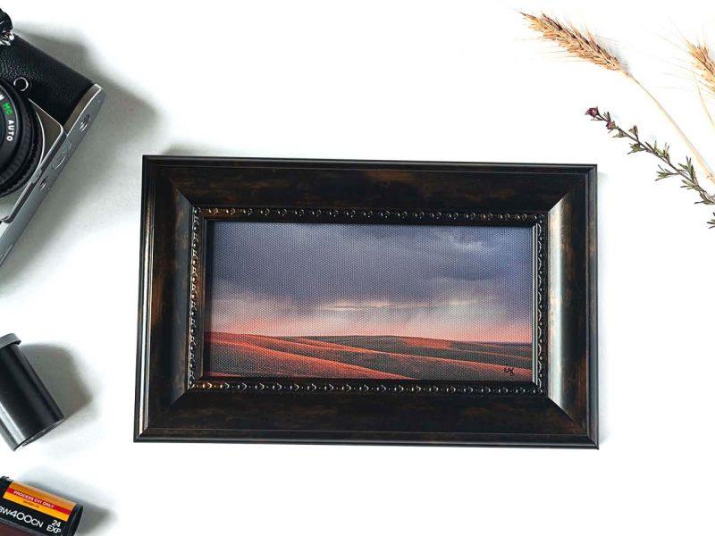Purple Storm Framed Mini Canvas Print