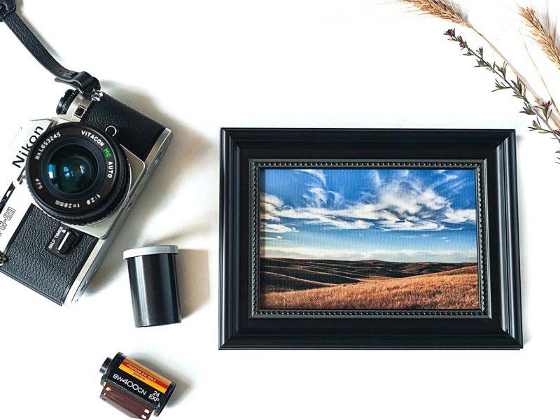 South Dakota Prairie Framed Mini Canvas Print