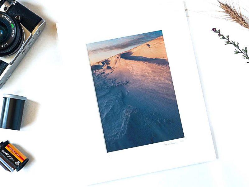 Snow Dunes 5×7 Matted Print