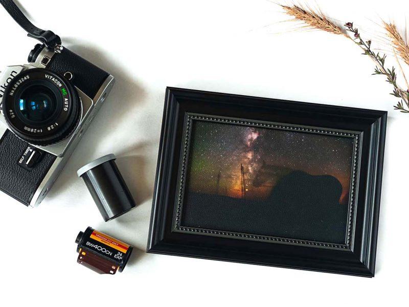 Star Gazing Framed Mini Canvas Print