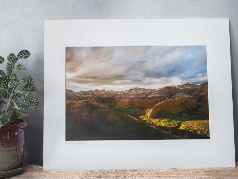 Evening Light in the Badlands 10×15 Matted Print