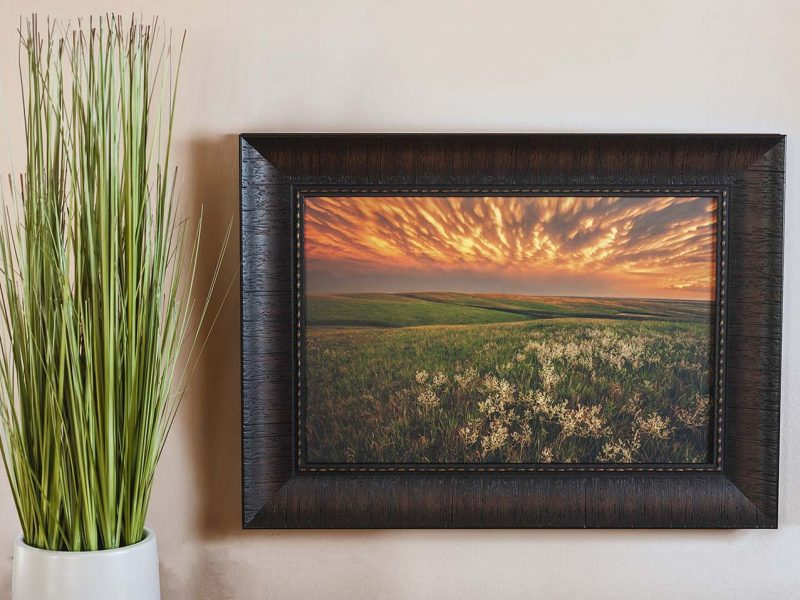 Green Pastures 10×15 Framed Giclee Canvas Print