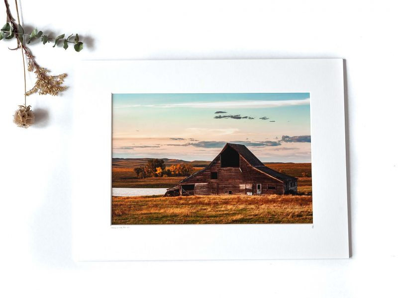 Home in the Fall 8×12 Matted Print