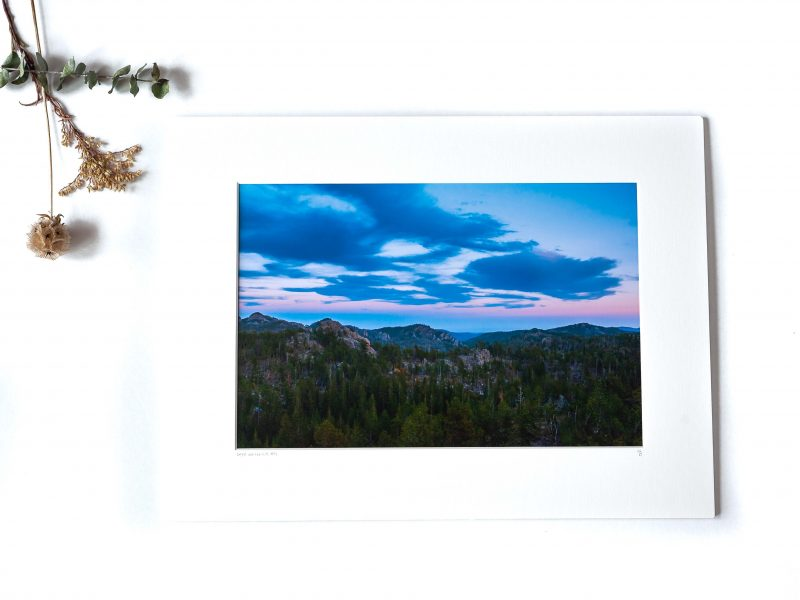 Light Over the Hills 8×12 Matted Print