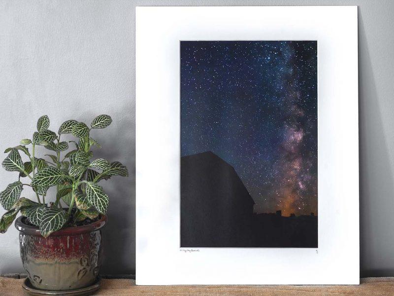 Milky Way Barn 10×15 Matted Print