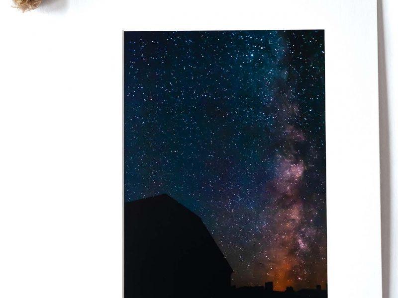 Milky Way Barn 8×12 Matted Print