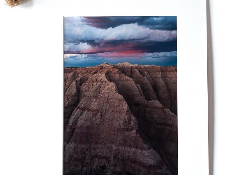 Mountainous Badlands 8×12 Matted Print