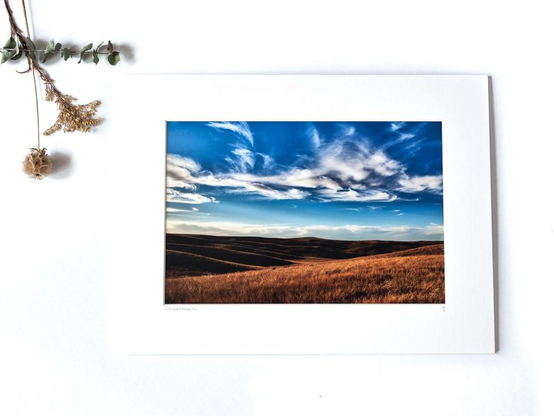 South Dakota Prairie 8×12 Matted Print