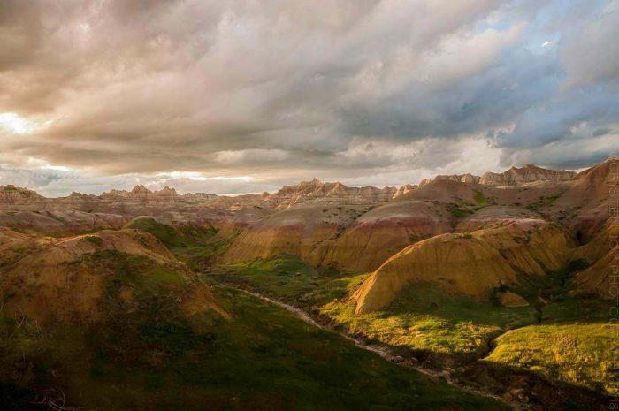 Badlands in Evening Light © Cristen J. Roghair http://cristenjoyphotography.com