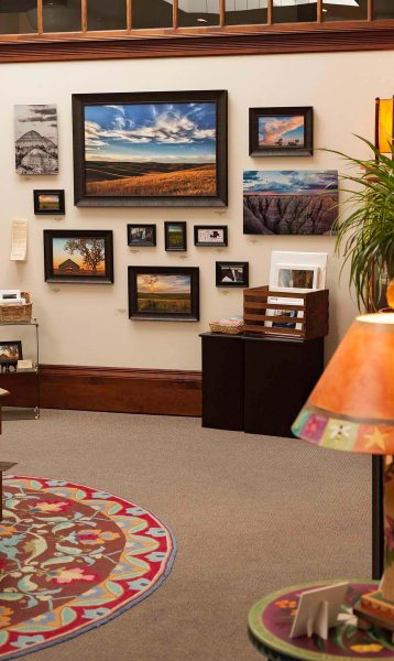 This photo is of my photography display at Prairie Edge Fine Art Gallery in Rapid City, SD.