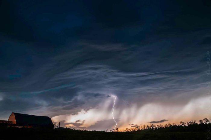 Lightning Barn © Cristen J. Roghair http://cristenjoyphotography.com
