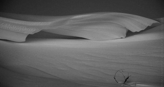 Wind Carved Snow Drift © Cristen J. Roghair http://cristenjoyphotography.com